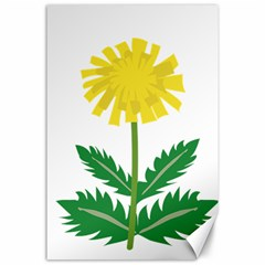 Sunflower Floral Flower Yellow Green Canvas 24  X 36