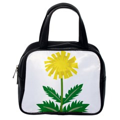 Sunflower Floral Flower Yellow Green Classic Handbags (one Side)