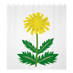 Sunflower Floral Flower Yellow Green Shower Curtain 66  X 72  (large)
