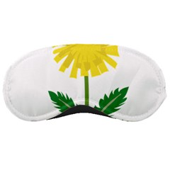 Sunflower Floral Flower Yellow Green Sleeping Masks