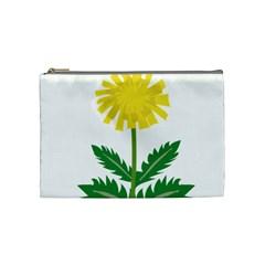 Sunflower Floral Flower Yellow Green Cosmetic Bag (medium)