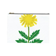 Sunflower Floral Flower Yellow Green Cosmetic Bag (large)