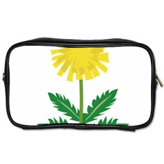 Sunflower Floral Flower Yellow Green Toiletries Bags