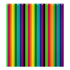 Multi Colored Colorful Bright Stripes Wallpaper Pattern Background Shower Curtain 66  X 72  (large)  by Nexatart