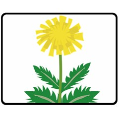 Sunflower Floral Flower Yellow Green Fleece Blanket (medium)