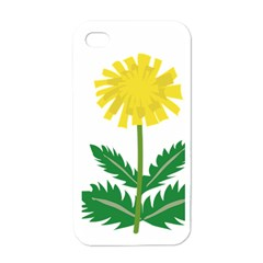 Sunflower Floral Flower Yellow Green Apple Iphone 4 Case (white) by Mariart