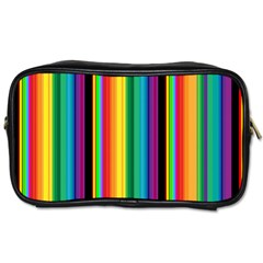Multi Colored Colorful Bright Stripes Wallpaper Pattern Background Toiletries Bags