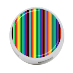 Multi Colored Colorful Bright Stripes Wallpaper Pattern Background 4 Port Usb Hub (two Sides)  by Nexatart