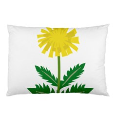 Sunflower Floral Flower Yellow Green Pillow Case (two Sides)