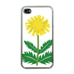 Sunflower Floral Flower Yellow Green Apple Iphone 4 Case (clear)