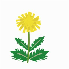 Sunflower Floral Flower Yellow Green Small Garden Flag (two Sides)