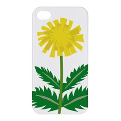 Sunflower Floral Flower Yellow Green Apple Iphone 4/4s Premium Hardshell Case by Mariart