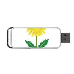 Sunflower Floral Flower Yellow Green Portable Usb Flash (one Side)