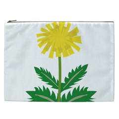 Sunflower Floral Flower Yellow Green Cosmetic Bag (xxl)