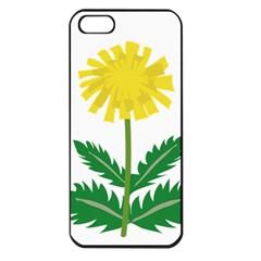 Sunflower Floral Flower Yellow Green Apple Iphone 5 Seamless Case (black)