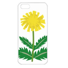 Sunflower Floral Flower Yellow Green Apple Iphone 5 Seamless Case (white)