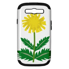 Sunflower Floral Flower Yellow Green Samsung Galaxy S Iii Hardshell Case (pc+silicone)