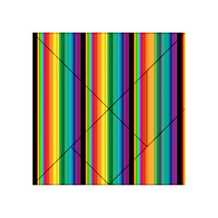 Multi Colored Colorful Bright Stripes Wallpaper Pattern Background Acrylic Tangram Puzzle (4  X 4 ) by Nexatart