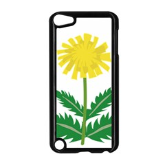 Sunflower Floral Flower Yellow Green Apple Ipod Touch 5 Case (black)