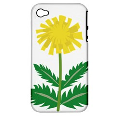 Sunflower Floral Flower Yellow Green Apple Iphone 4/4s Hardshell Case (pc+silicone)