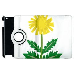Sunflower Floral Flower Yellow Green Apple Ipad 2 Flip 360 Case