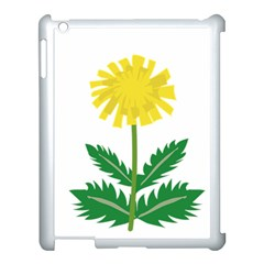 Sunflower Floral Flower Yellow Green Apple Ipad 3/4 Case (white) by Mariart