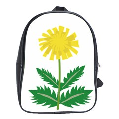Sunflower Floral Flower Yellow Green School Bags (xl)