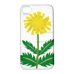 Sunflower Floral Flower Yellow Green Apple Iphone 4/4s Hardshell Case With Stand