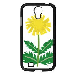 Sunflower Floral Flower Yellow Green Samsung Galaxy S4 I9500/ I9505 Case (black)