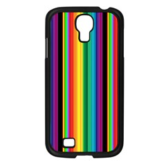 Multi Colored Colorful Bright Stripes Wallpaper Pattern Background Samsung Galaxy S4 I9500/ I9505 Case (black) by Nexatart