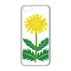 Sunflower Floral Flower Yellow Green Apple Iphone 5c Seamless Case (white)