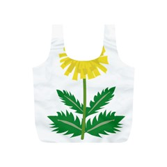 Sunflower Floral Flower Yellow Green Full Print Recycle Bags (s)