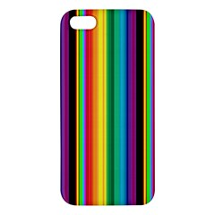 Multi Colored Colorful Bright Stripes Wallpaper Pattern Background Iphone 5s/ Se Premium Hardshell Case