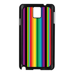 Multi Colored Colorful Bright Stripes Wallpaper Pattern Background Samsung Galaxy Note 3 N9005 Case (black) by Nexatart