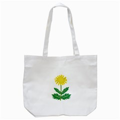 Sunflower Floral Flower Yellow Green Tote Bag (white)