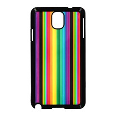 Multi Colored Colorful Bright Stripes Wallpaper Pattern Background Samsung Galaxy Note 3 Neo Hardshell Case (black) by Nexatart