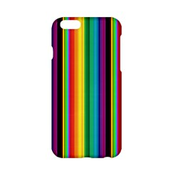 Multi Colored Colorful Bright Stripes Wallpaper Pattern Background Apple Iphone 6/6s Hardshell Case by Nexatart