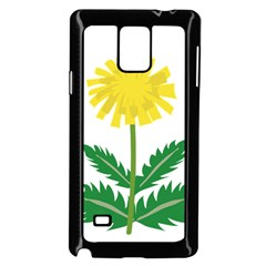 Sunflower Floral Flower Yellow Green Samsung Galaxy Note 4 Case (black)
