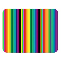Multi Colored Colorful Bright Stripes Wallpaper Pattern Background Double Sided Flano Blanket (large)  by Nexatart