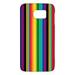 Multi Colored Colorful Bright Stripes Wallpaper Pattern Background Galaxy S6 by Nexatart