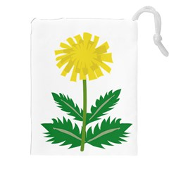 Sunflower Floral Flower Yellow Green Drawstring Pouches (xxl)