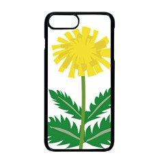 Sunflower Floral Flower Yellow Green Apple Iphone 7 Plus Seamless Case (black)