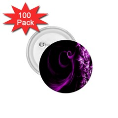 Purple Flower Floral 1 75  Buttons (100 Pack)