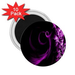 Purple Flower Floral 2 25  Magnets (10 Pack)