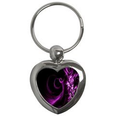Purple Flower Floral Key Chains (heart)
