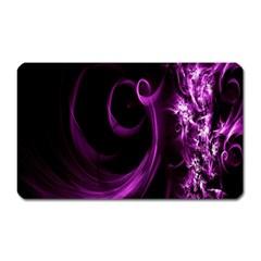 Purple Flower Floral Magnet (rectangular)