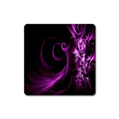 Purple Flower Floral Square Magnet