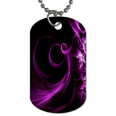 Purple Flower Floral Dog Tag (two Sides)