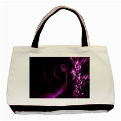 Purple Flower Floral Basic Tote Bag by Mariart