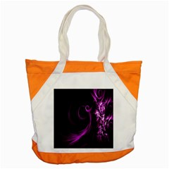 Purple Flower Floral Accent Tote Bag